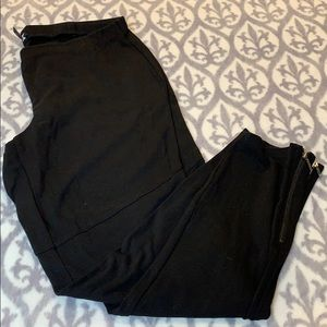 Eileen Fisher stretch leggings with zippers